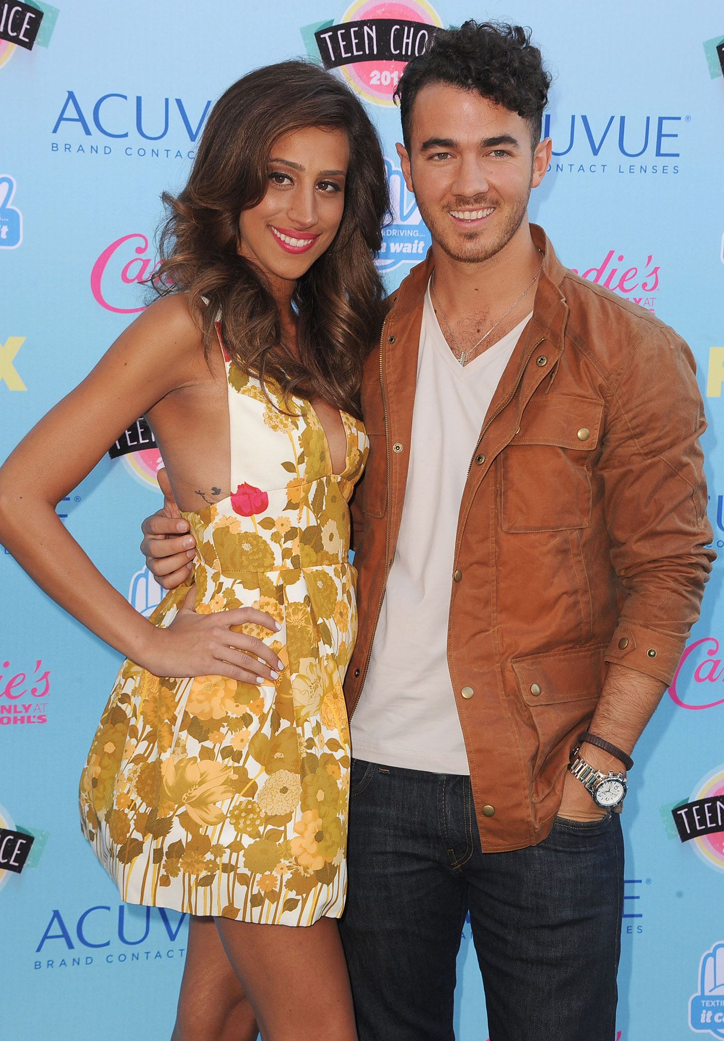 Danielle and Kevin Jonas at the Teen Choice Awards (Getty Images)