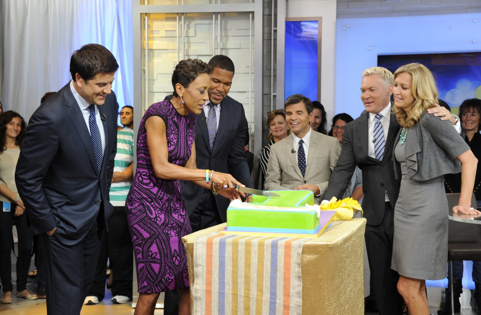 Robin Roberts at her first birthday party. (ABC)