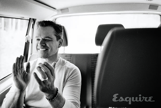 Matt Damon in Esquire (Max Vadukul)