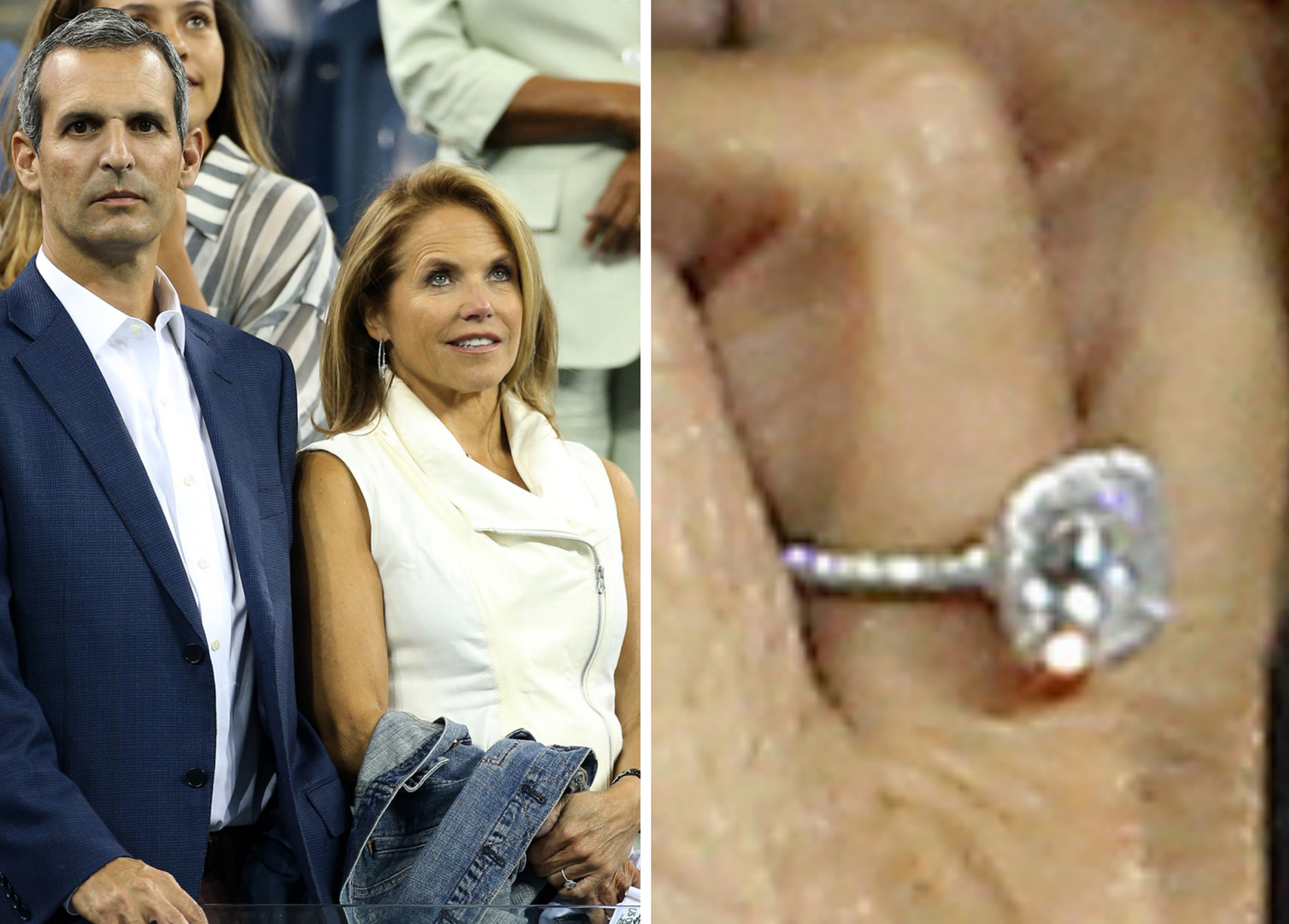 John Molner, Katie Couric, and her engagement ring (Pacific Coast News)