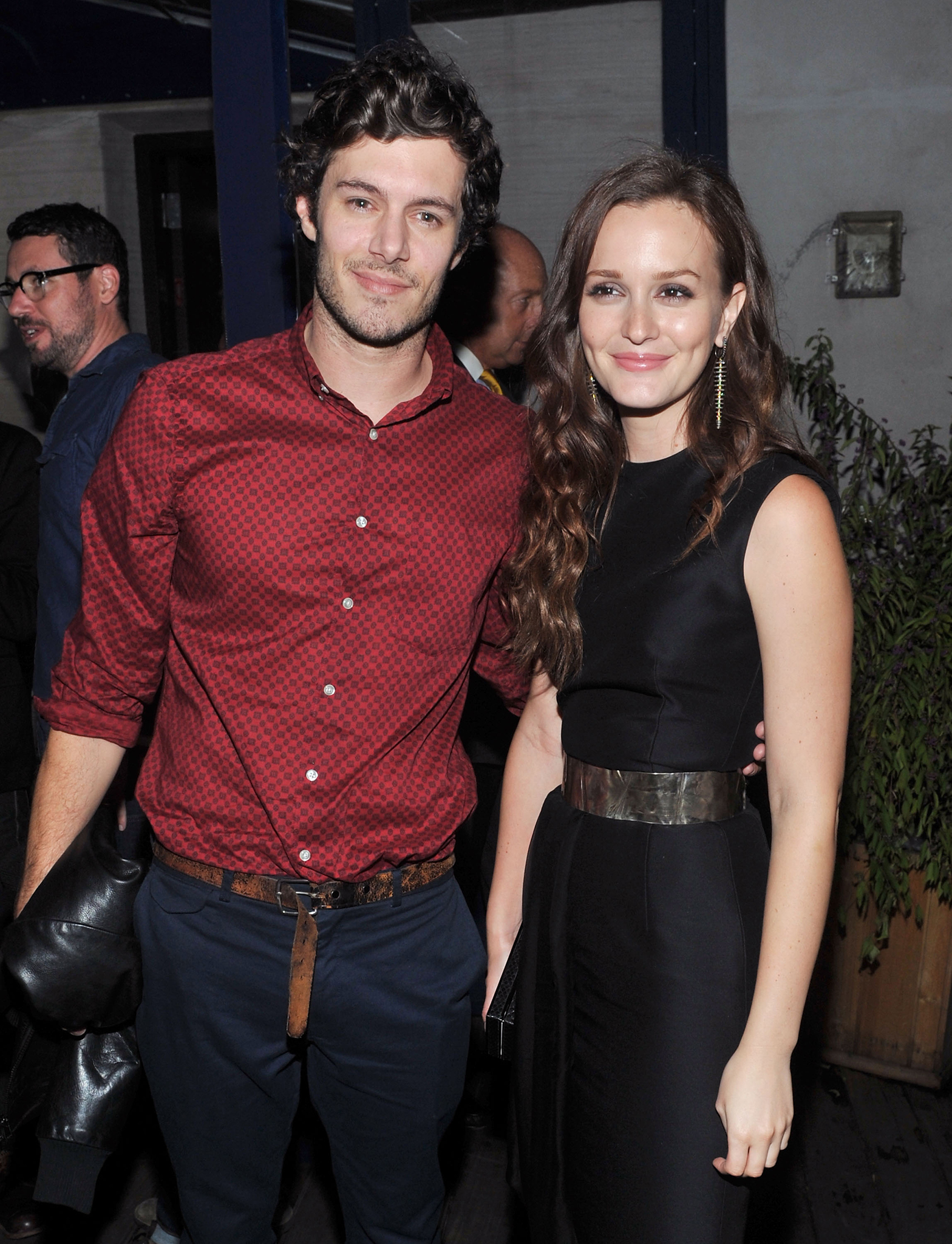 Adam and Leighton in 2012. The duo made an effort not to be photographed together last night (WireImage)