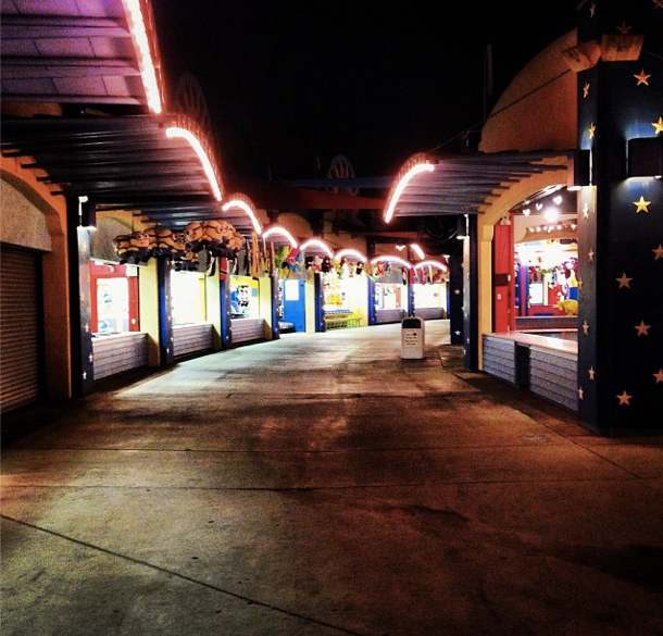 Birthday girl Kendall snapped this photo of the empty theme park.(Instagram)