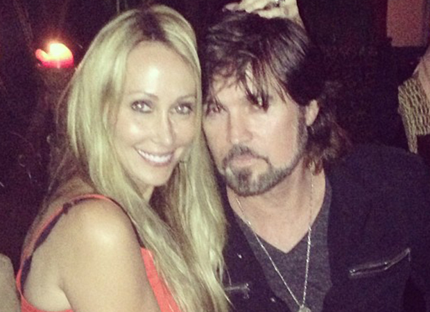 Billy Ray Cyrus and Tish Cryus celebrate date night on Saturday. (Instagram)