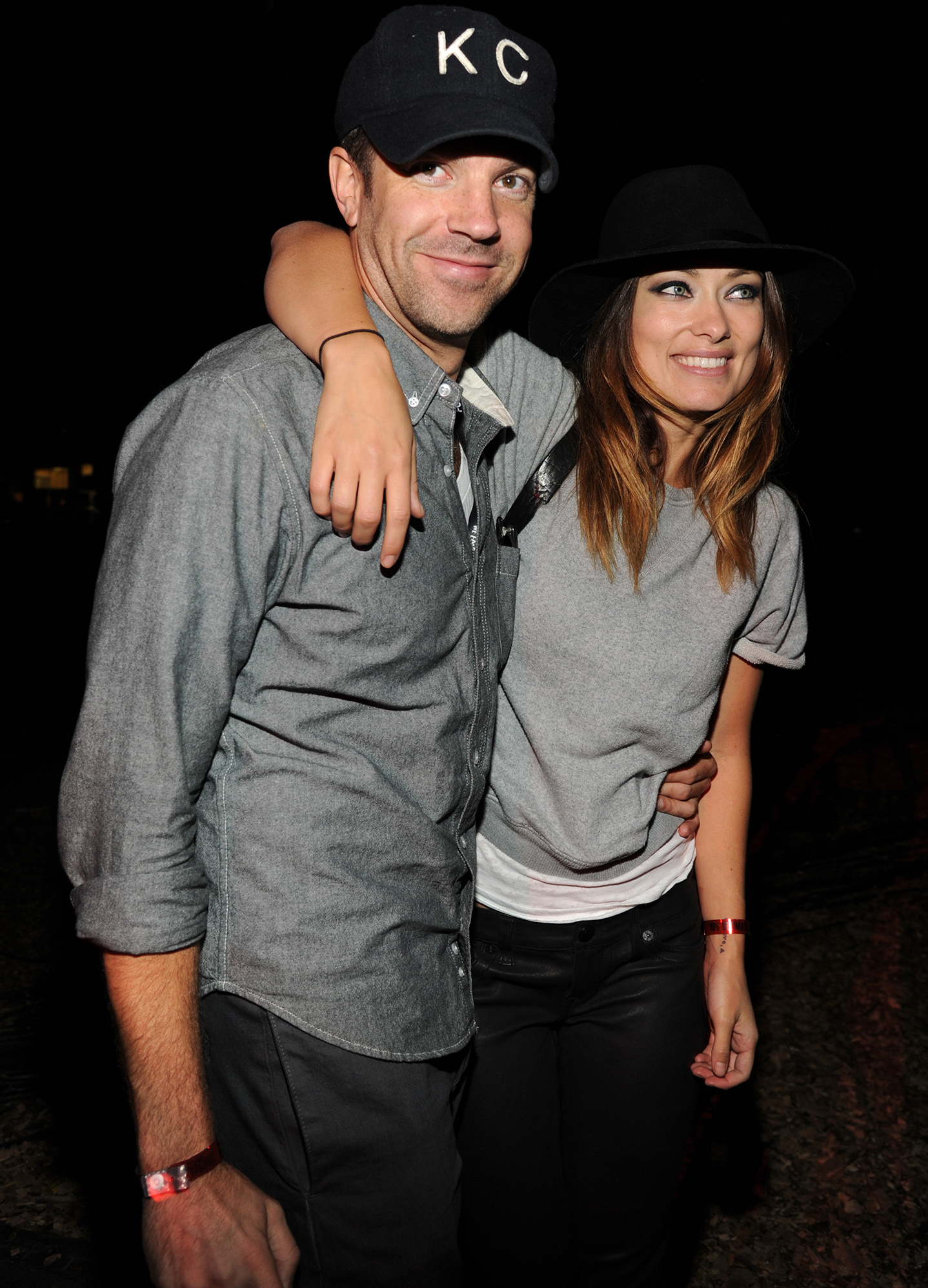 Jason Sudeikis and Olivia Wilde were inseparable at a concert in NYC on September 28. (Getty Images)