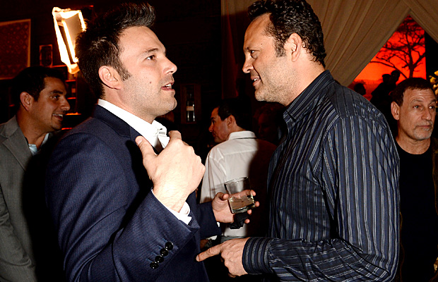Ben Affleck and Vince Vaughn bond backstage at Guys Choice Awards