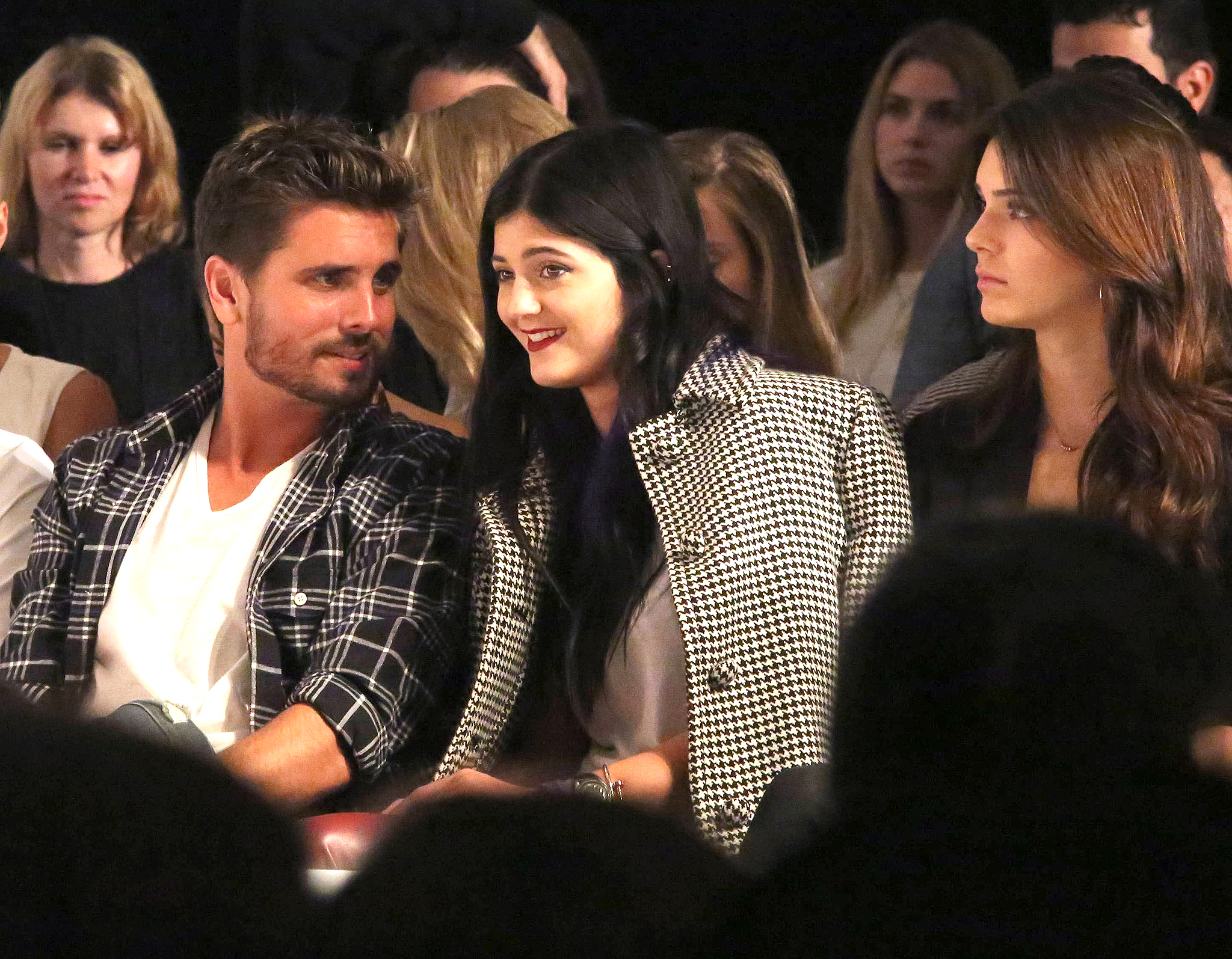 Scott, Kylie, and Kendall at Day by Day fashion show (FameFlynet)