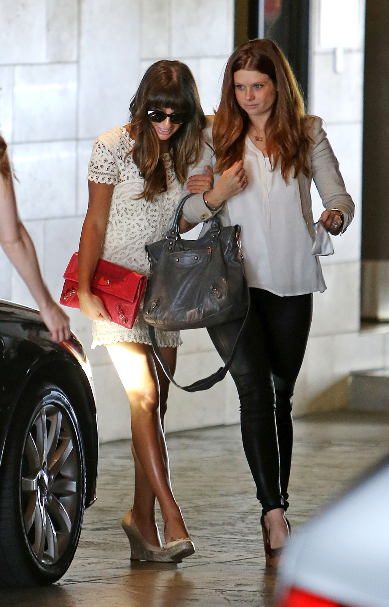 Lea Michele and JoAnna Garcia Swisher (Splash News)