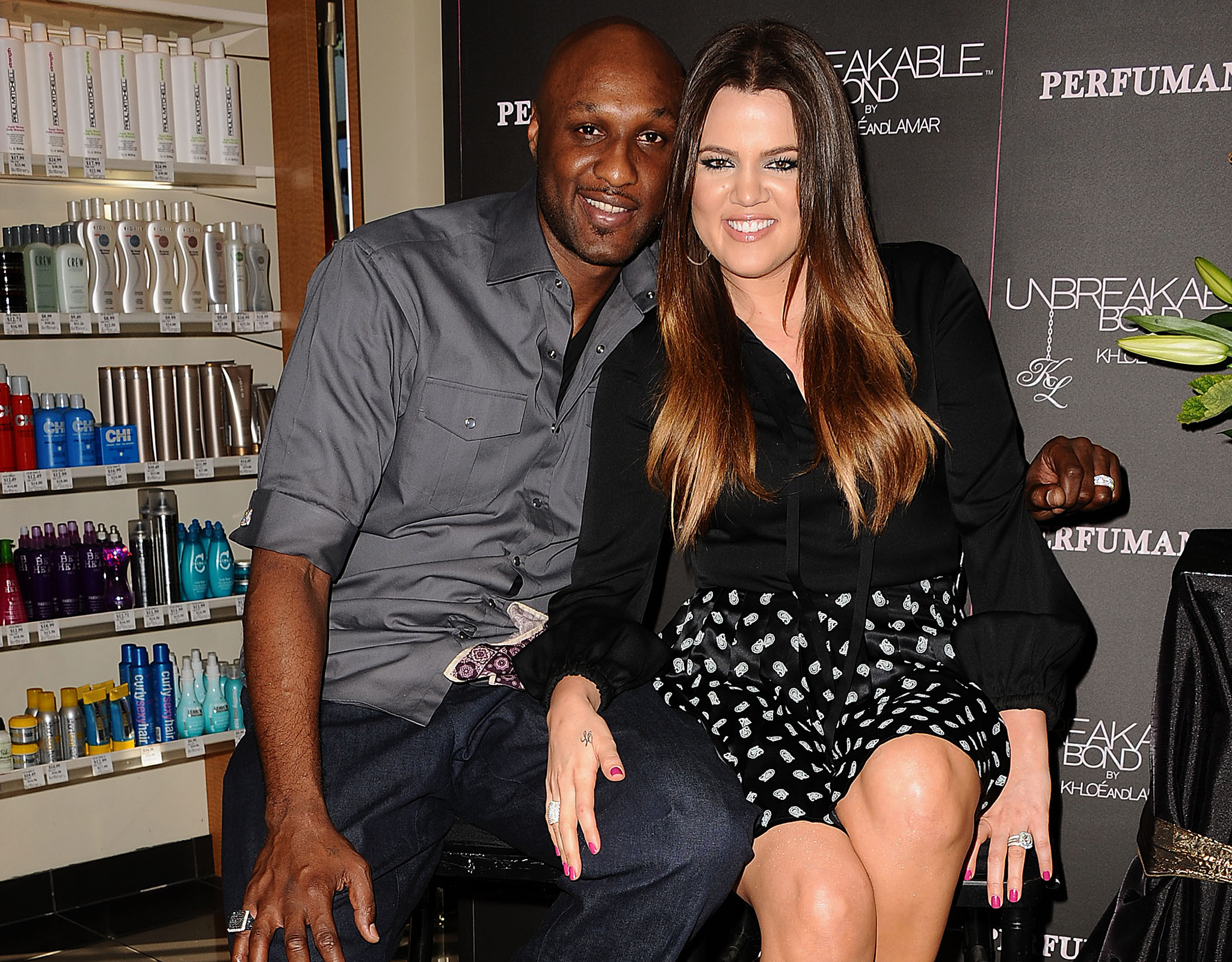 Lamar Odom and Khloe Kardashian Odom (Jason LaVeris/FilmMagic)