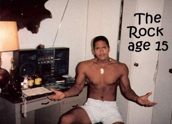 Dwayne 'The Rock' Johnson when he was 15 (Twitter)
