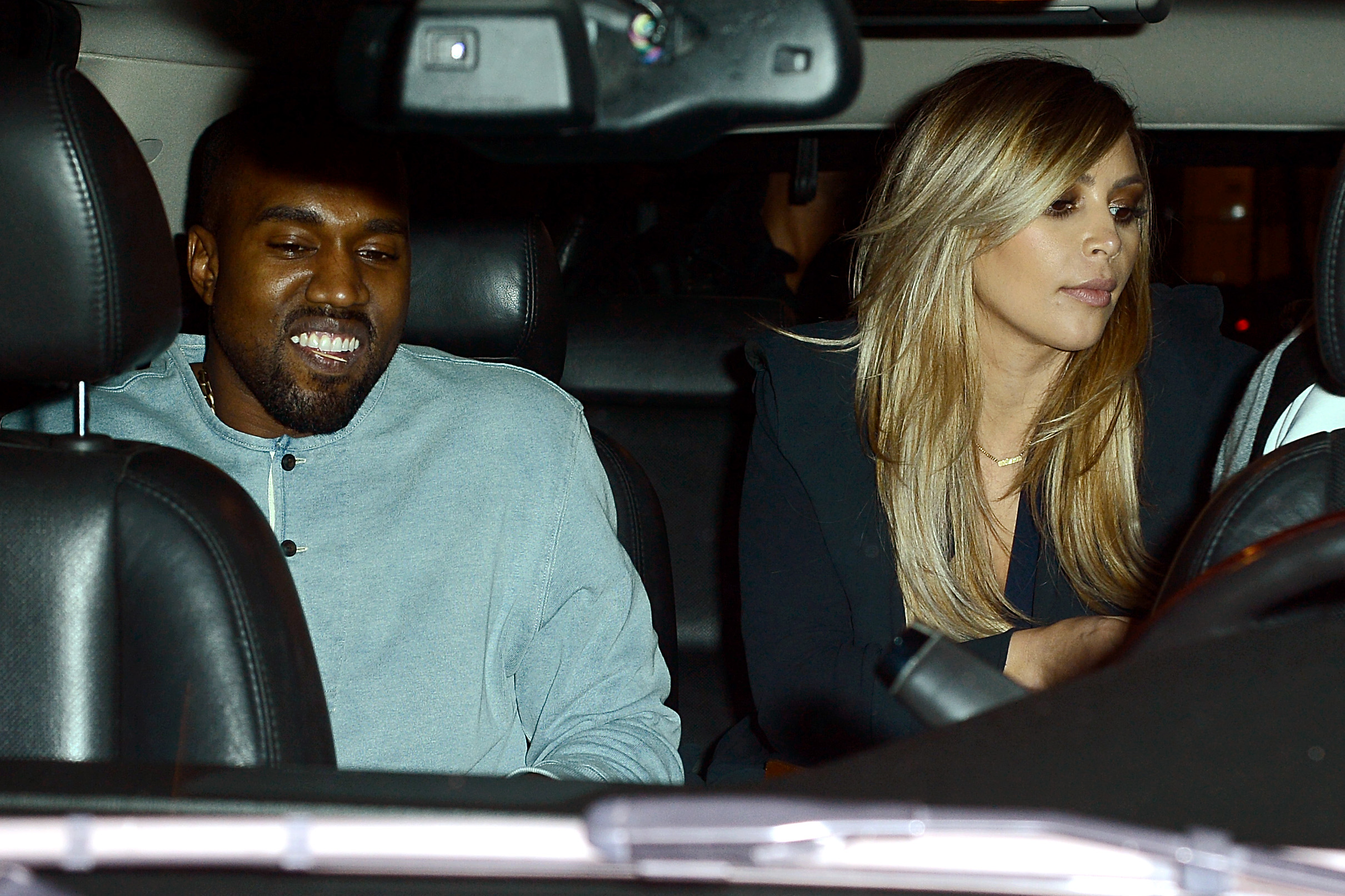 Kanye West and Kim Kardashian (Splash News)