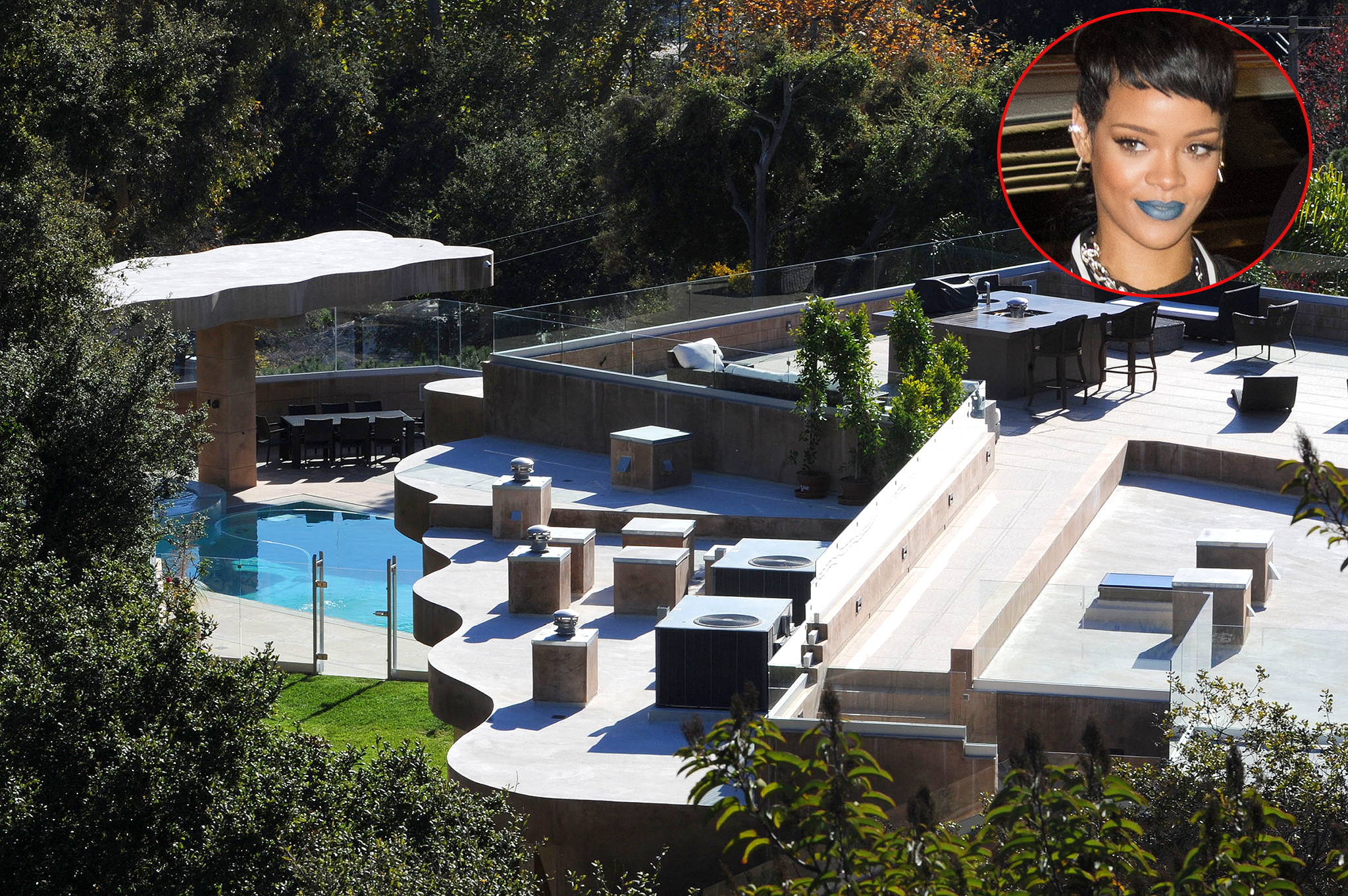 Rihanna and her luxe home (Getty Images(inset)/Splash News)