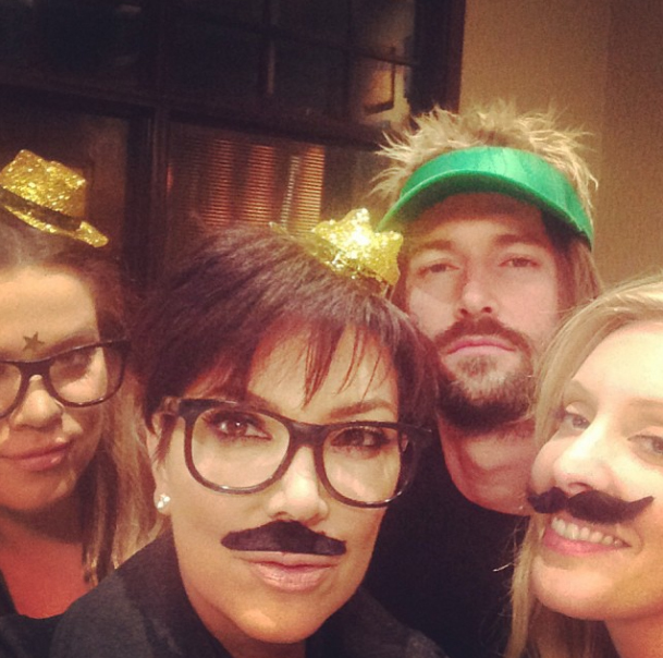 Khloe, Kris, Brandon, and Leah celebrate Bruce's birthday (Instagram)