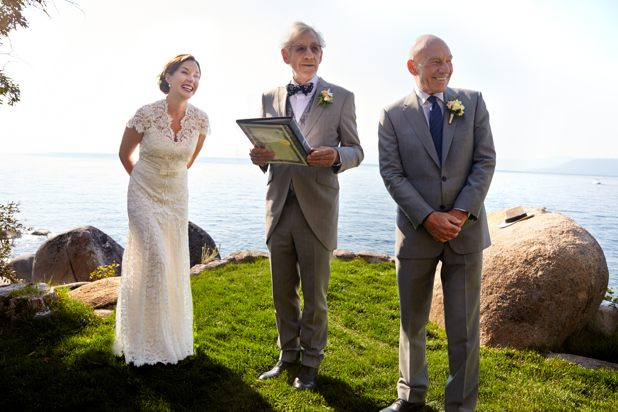Sunny Ozell and Sir Patrick Stewart's wedding photo. (John von Pamer)