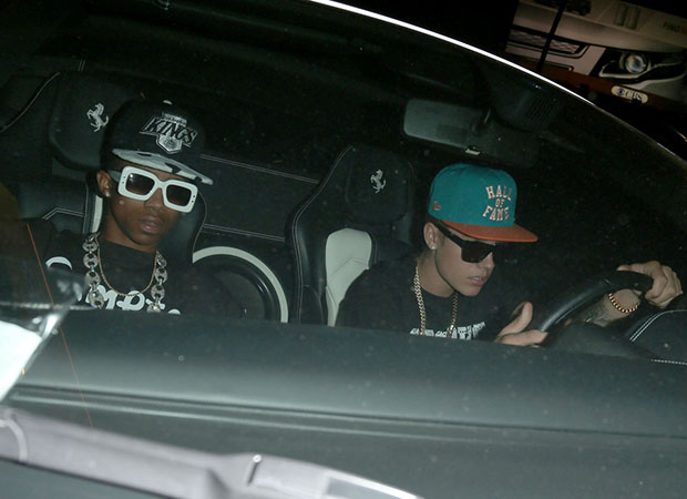 Justin Bieber behind the wheel on June 17. (Pacific Coast News)