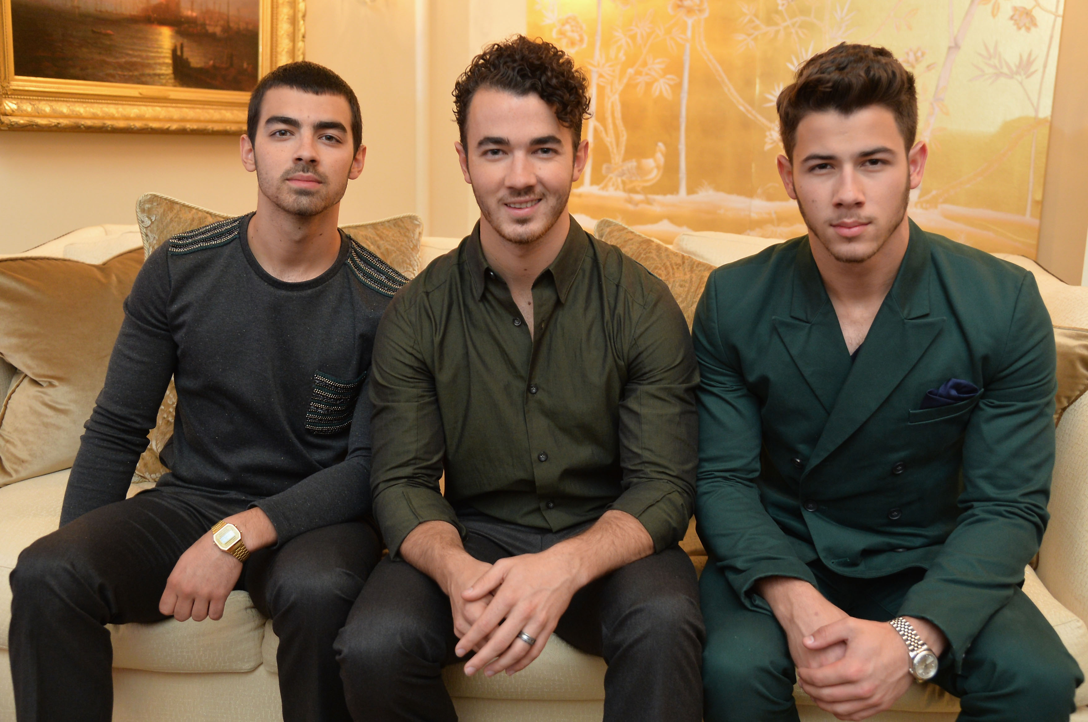 Joe, Kevin, and Nick Jonas in September 2013 (Getty Images)