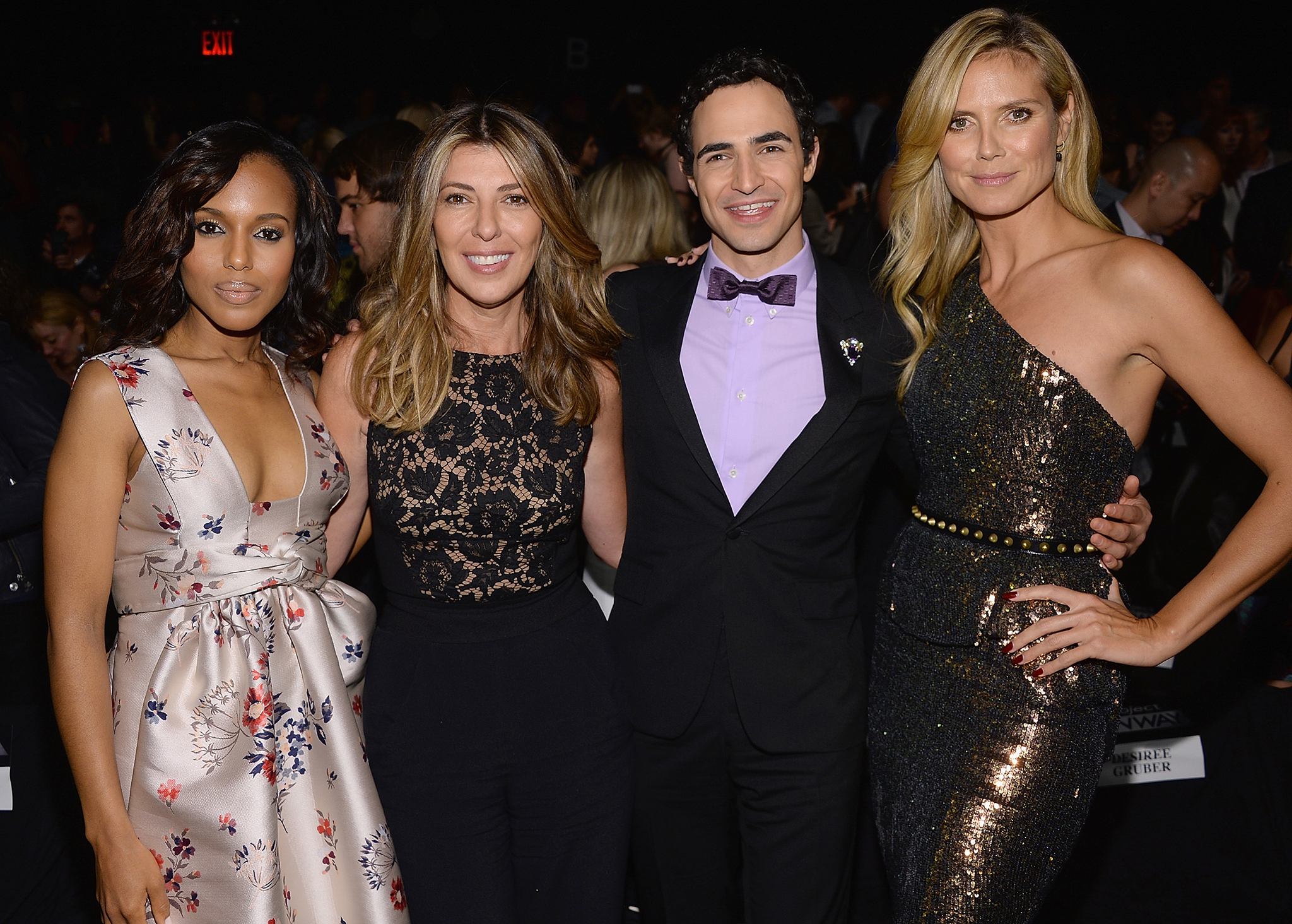 Zac Posen with Kerry Washington, Nina Garcia, and Heidi Klum taping the 'Project Runway' finale. (WireImage)