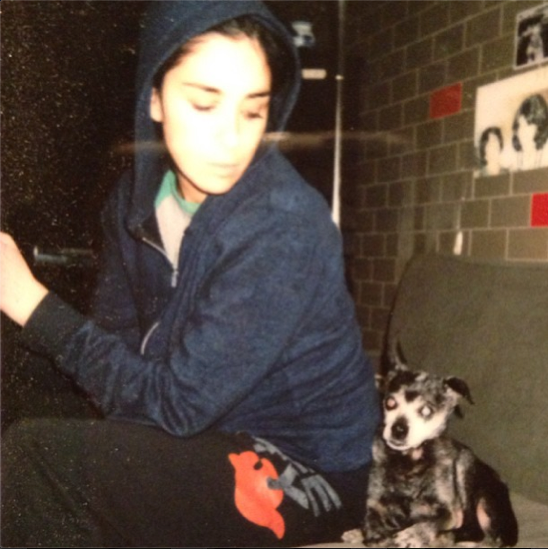 Sarah Silverman and Duck the dog (Instagram)