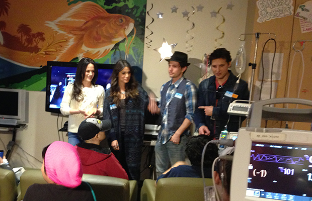 Elizabeth Reaser, Nikki Reed, Jackson Rathbone, and Peter Facinelli at CHLA (Taryn Ryder)