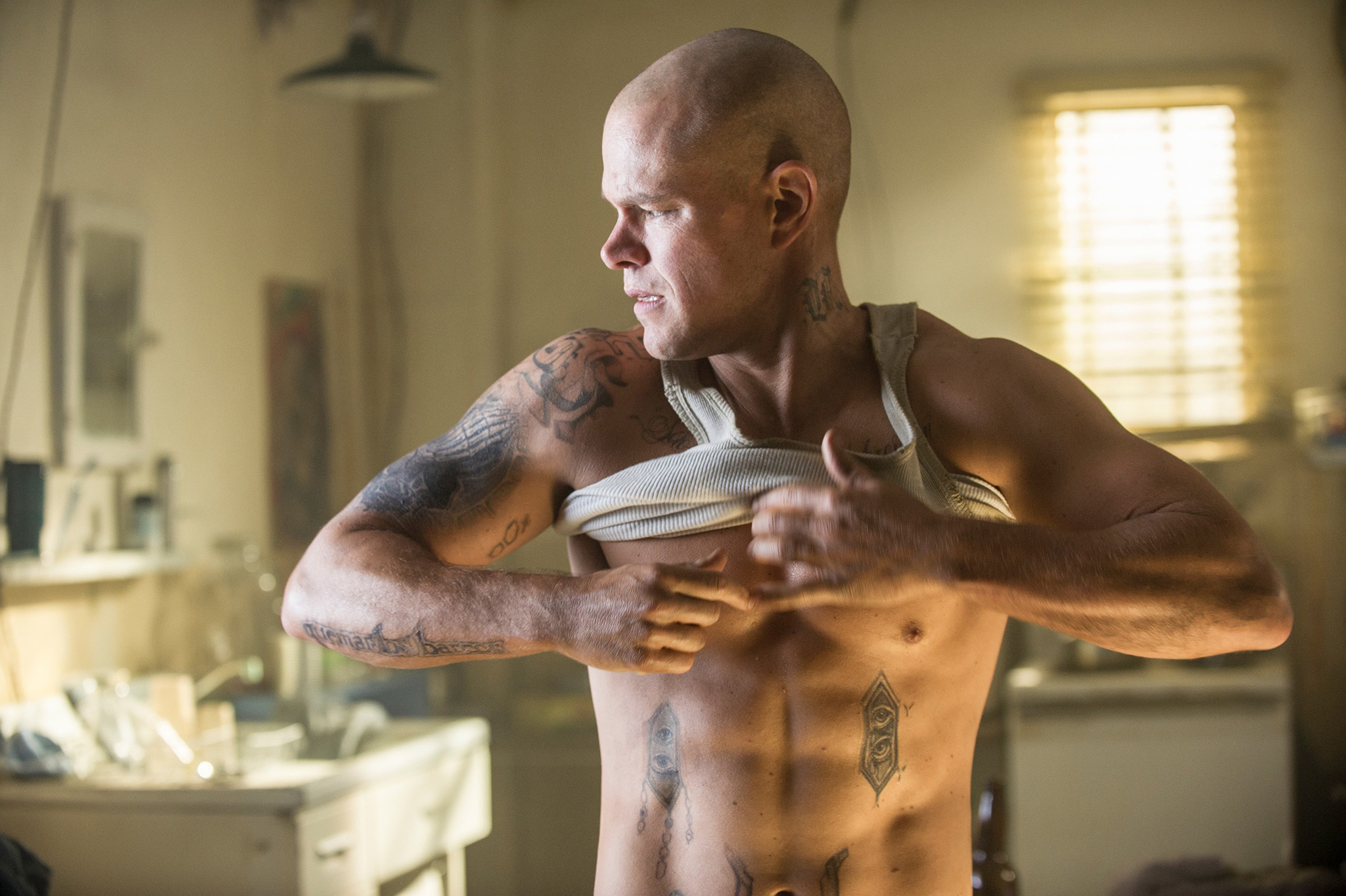 Matt Damon in 'Elysium' (Sony Pictures/courtesy Everett Collection)