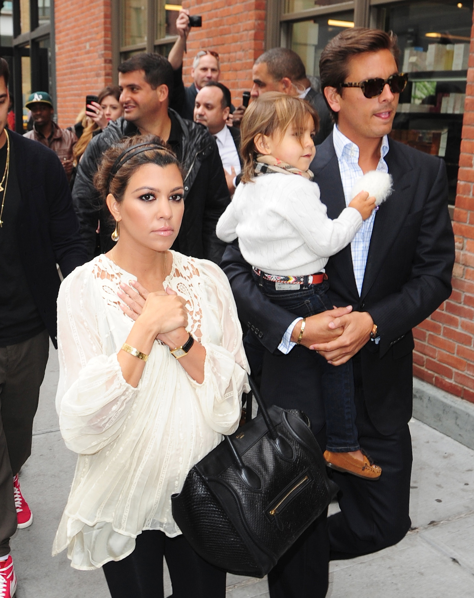 Kourtney Kardashian, Scott Disick, and Mason Disick (FilmMagic)