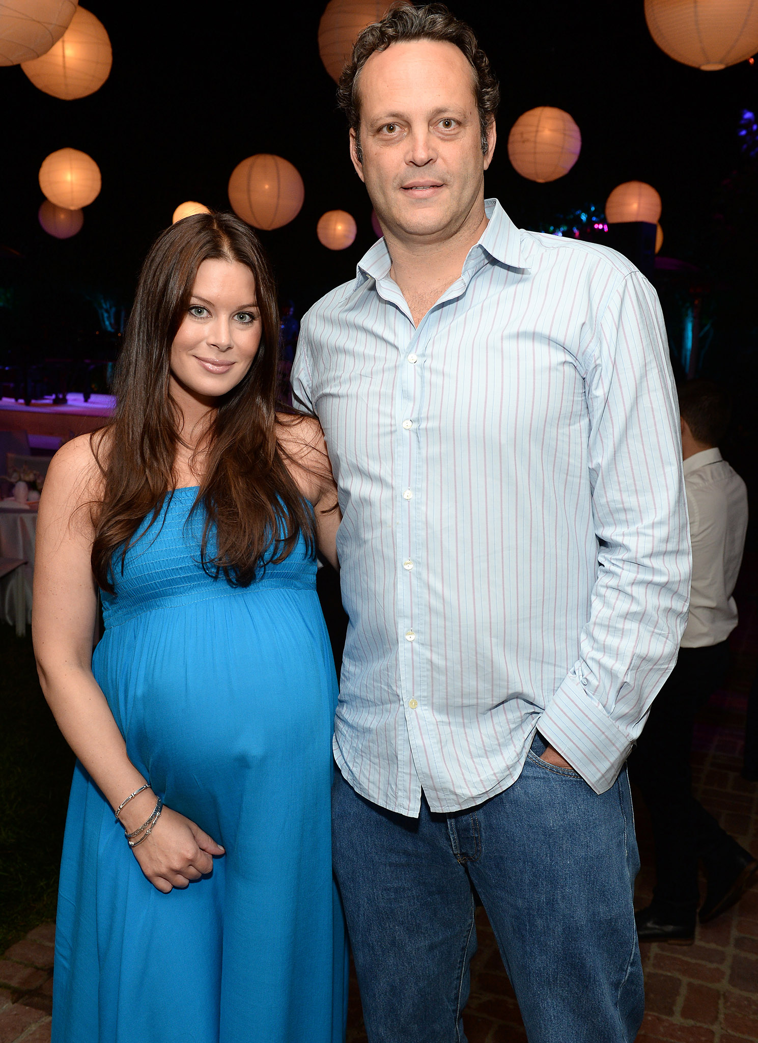 Vince Vaughn and Kyla Weber (Getty Images)