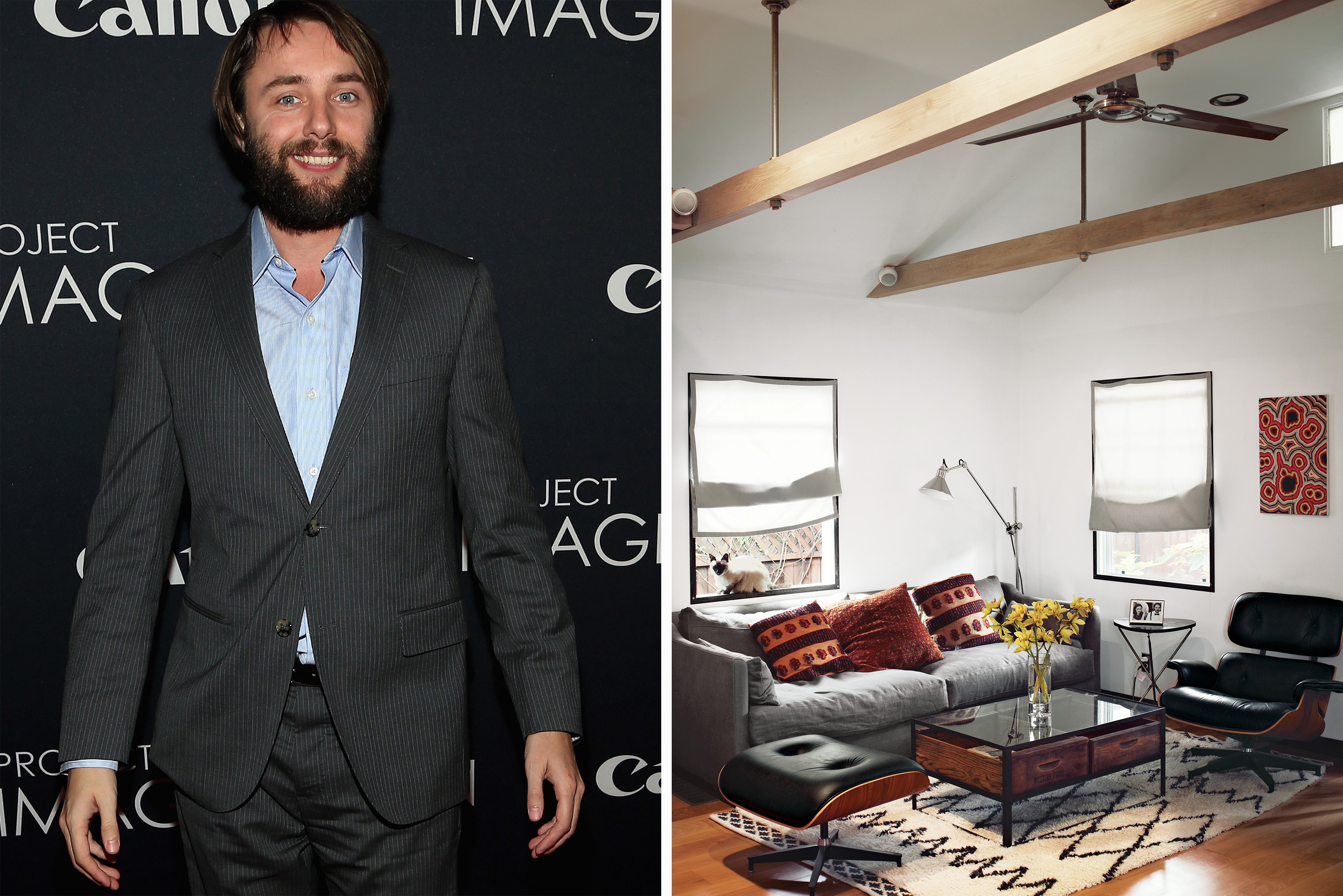 Vincent Kartheiser and his Hollywood cabin (Getty Images/Joe Pugliesse/Dwell)