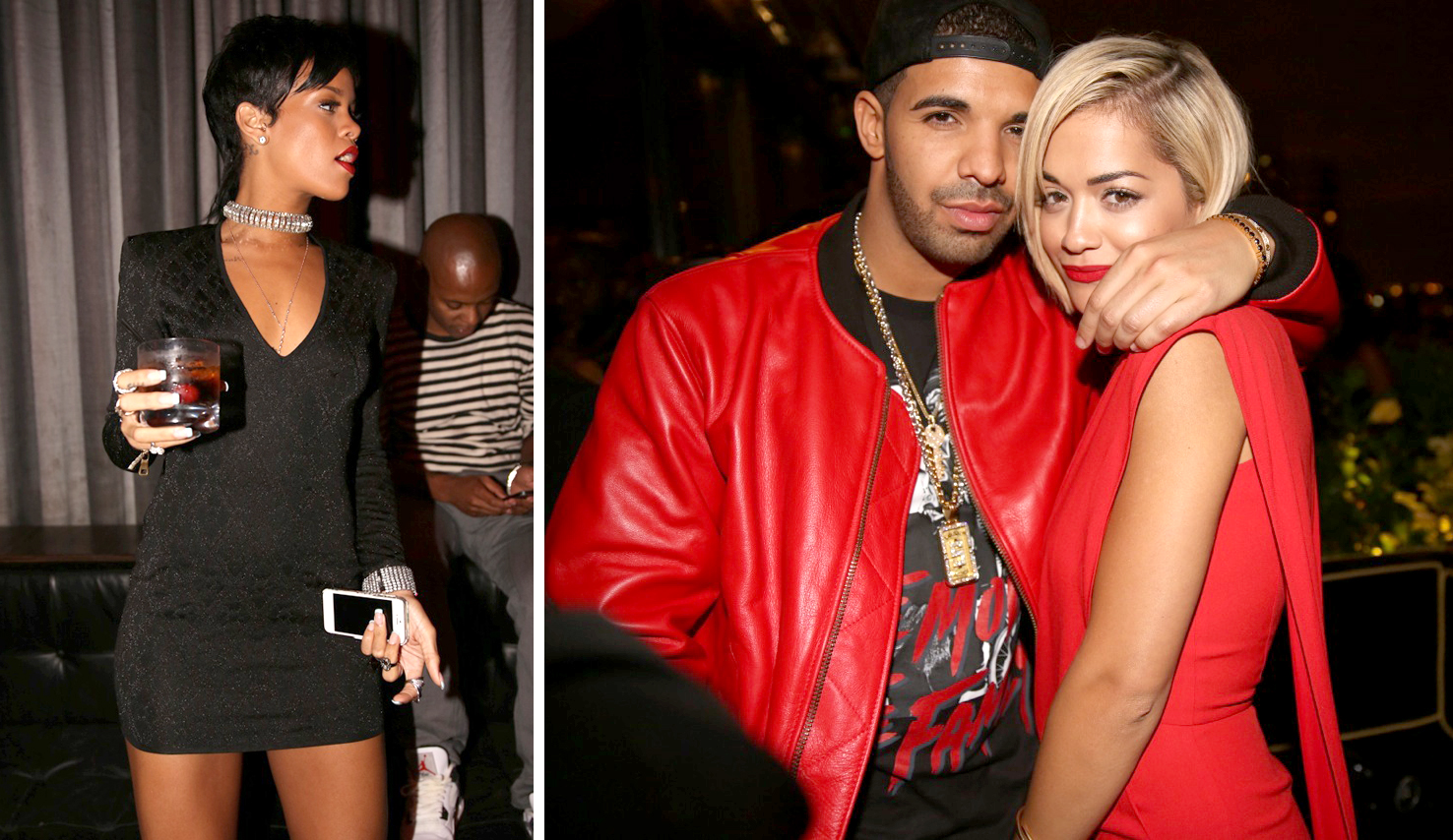 Rihanna (L), Drake and Rita Ora hit up VMA afterparty (Courtesy: CIROQ)
