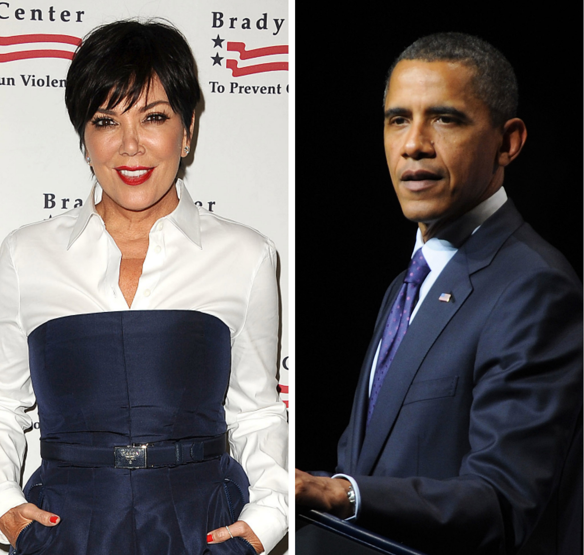 Kris Jenner and Barack Obama (Getty Images)