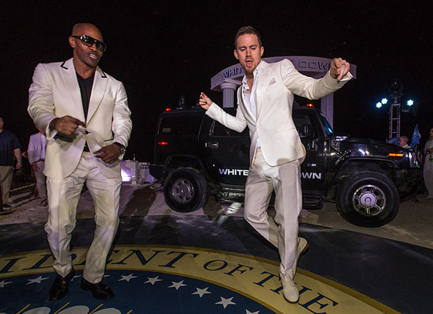Jamie Foxx and Channing Tatum cut a rug (Christopher Polk/Getty Images)