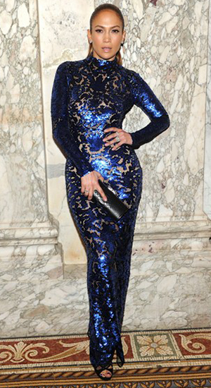 Jennifer Lopez in Tom Ford at 4th Annual amfAR Inspirational Gala (Getty Images)