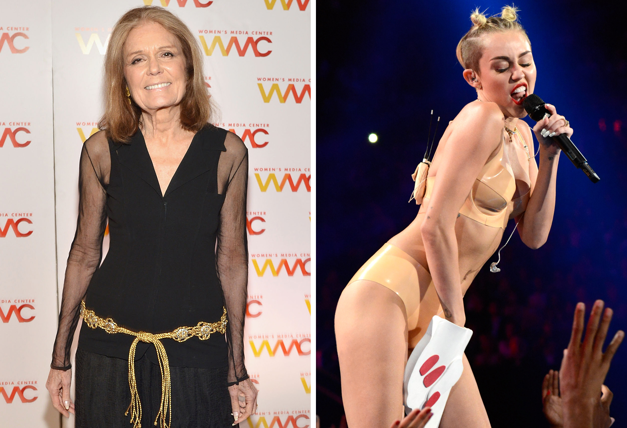 Gloria Steinem and Miley Cyrus (Getty Images/WireImage)