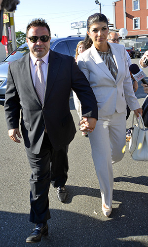 Joe and Teresa Giudice arrive in court Tuesday (INF.com)