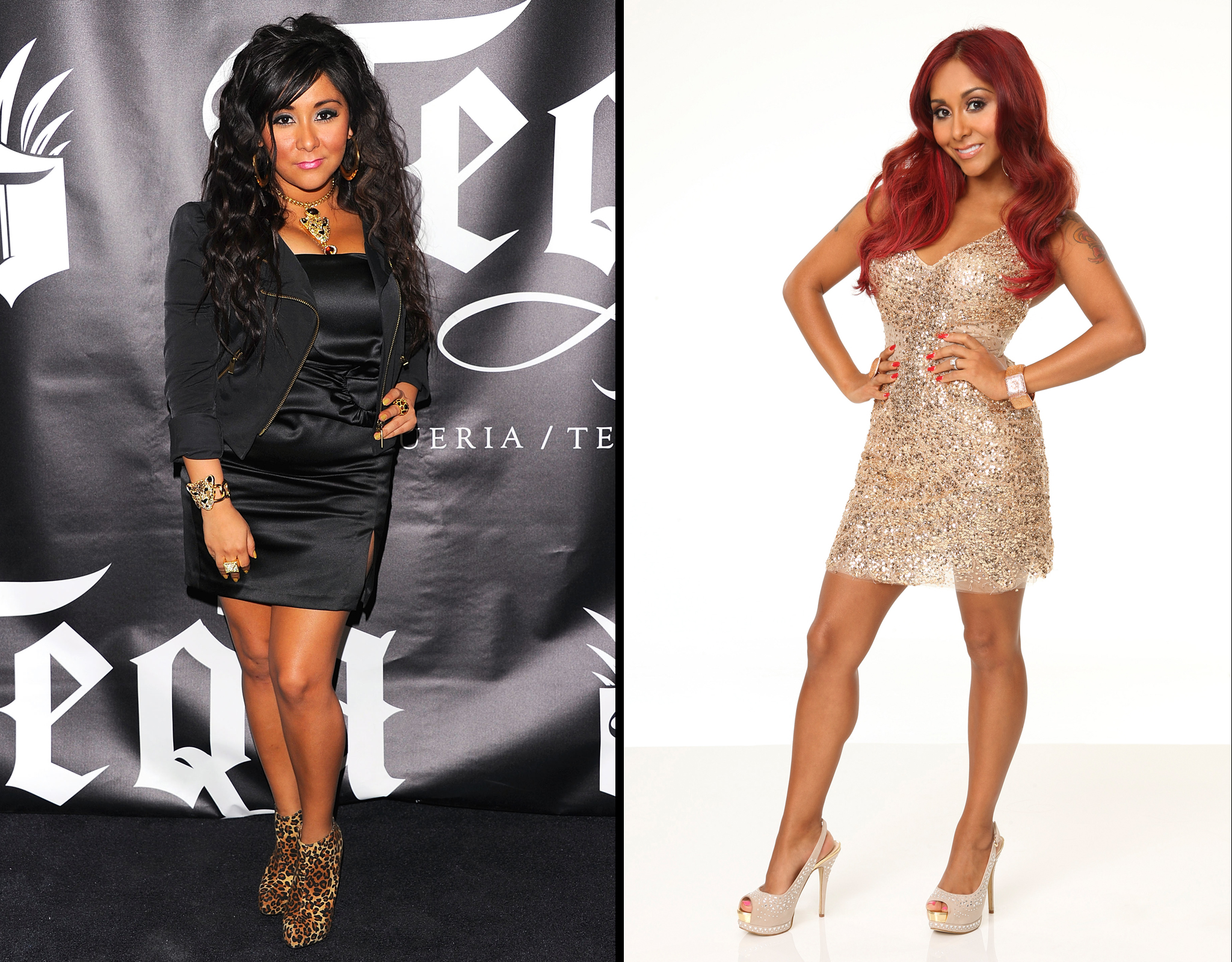 Snooki in February 2011/Snooki in September 2013 (WireImage/Getty Images)