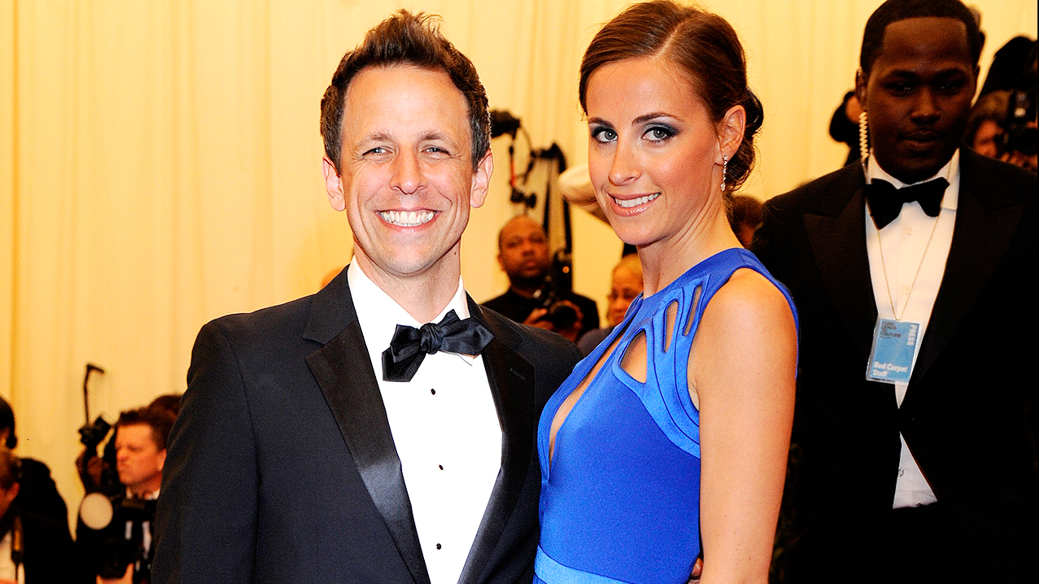 Seth Meyers and Alexi Ashe (Getty)
