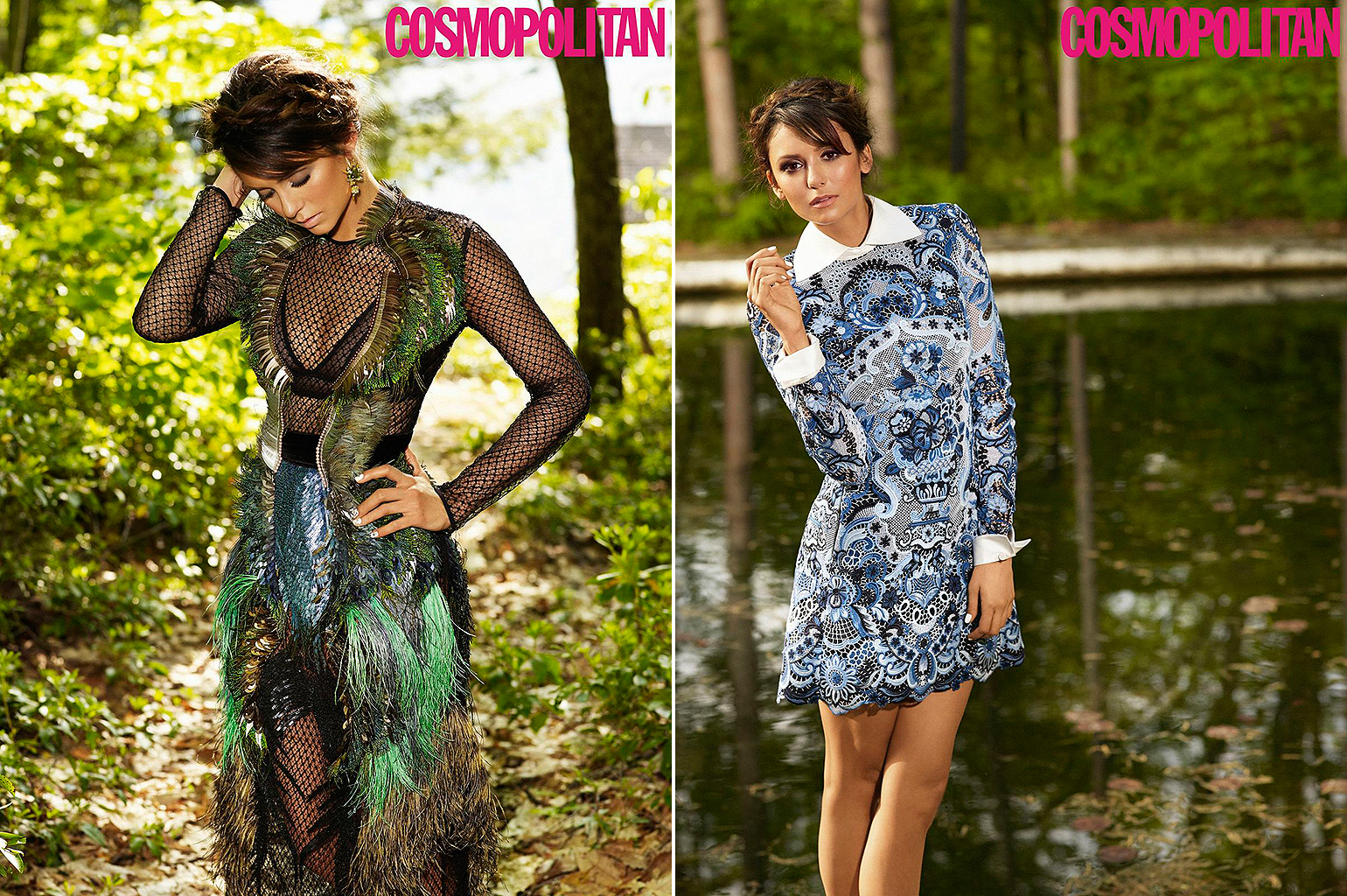An inside look at Nina Dobrev's photo shoot for Cosmopolitan (Matthias Vriens-McGrath)