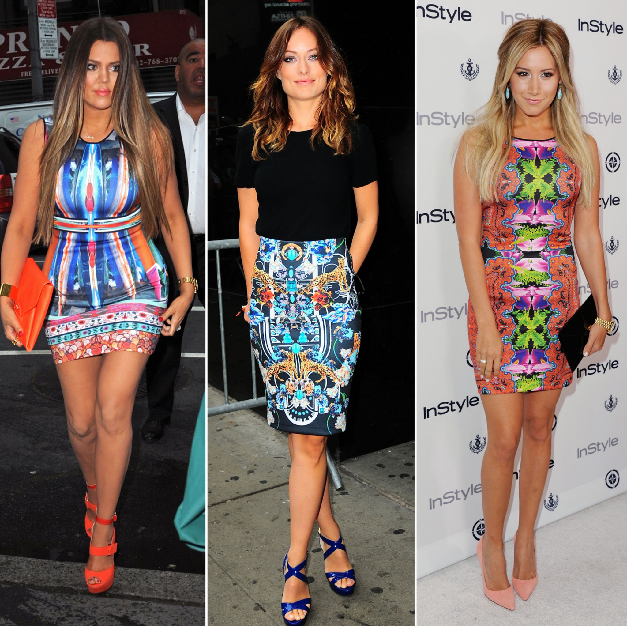 (L-R) Khloe Kardashian, Olivia Wilde, Ashley Tisdale (Getty)