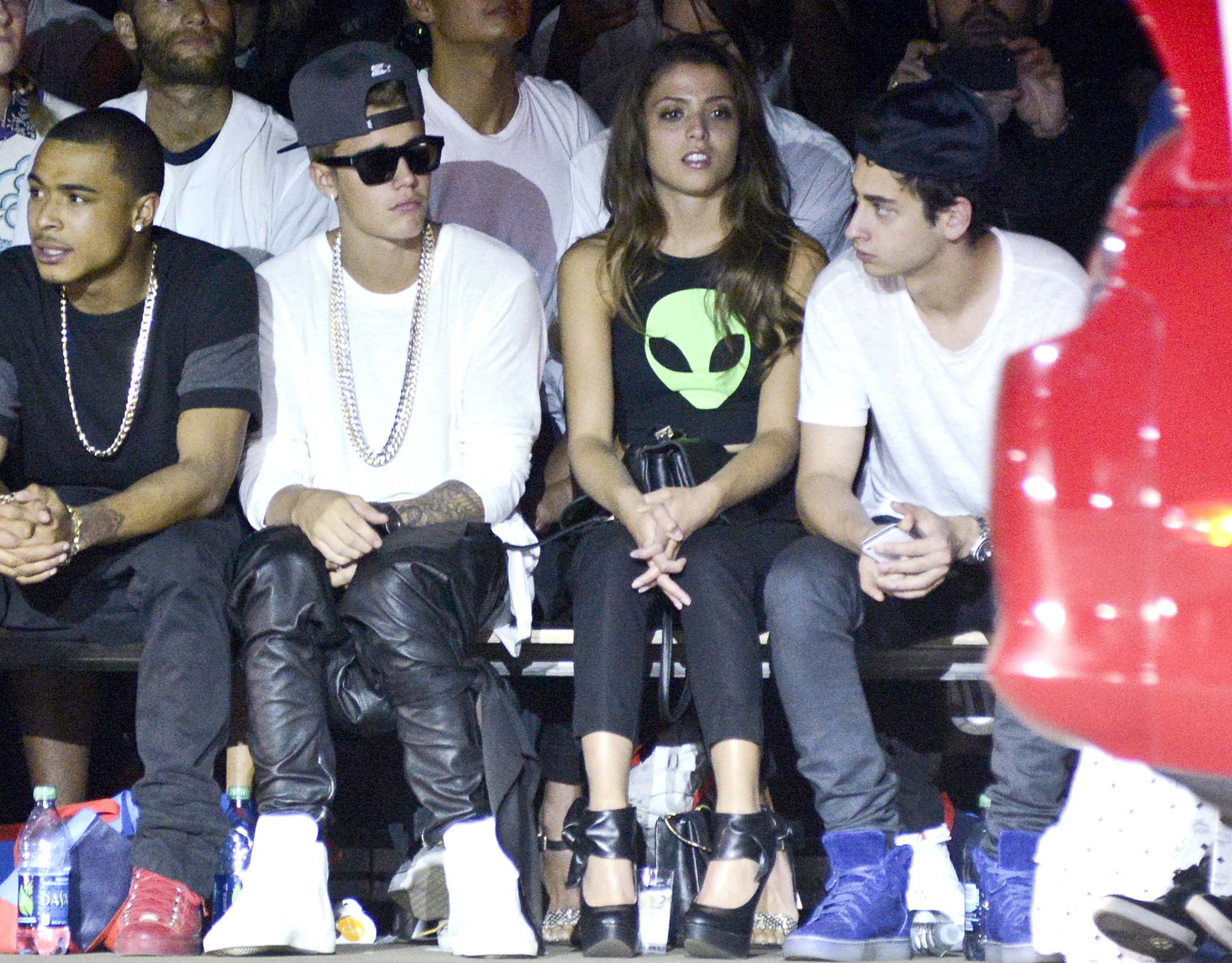 Justin Bieber and Jacque Rae Pyles at New York Fashion Week (Vivien Killilea/Getty Images)