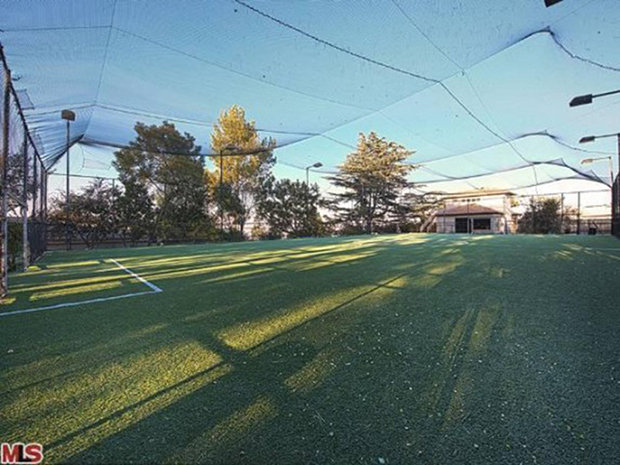 Robbie Williams's personal soccer field (MLS photo courtsey of Zillow)