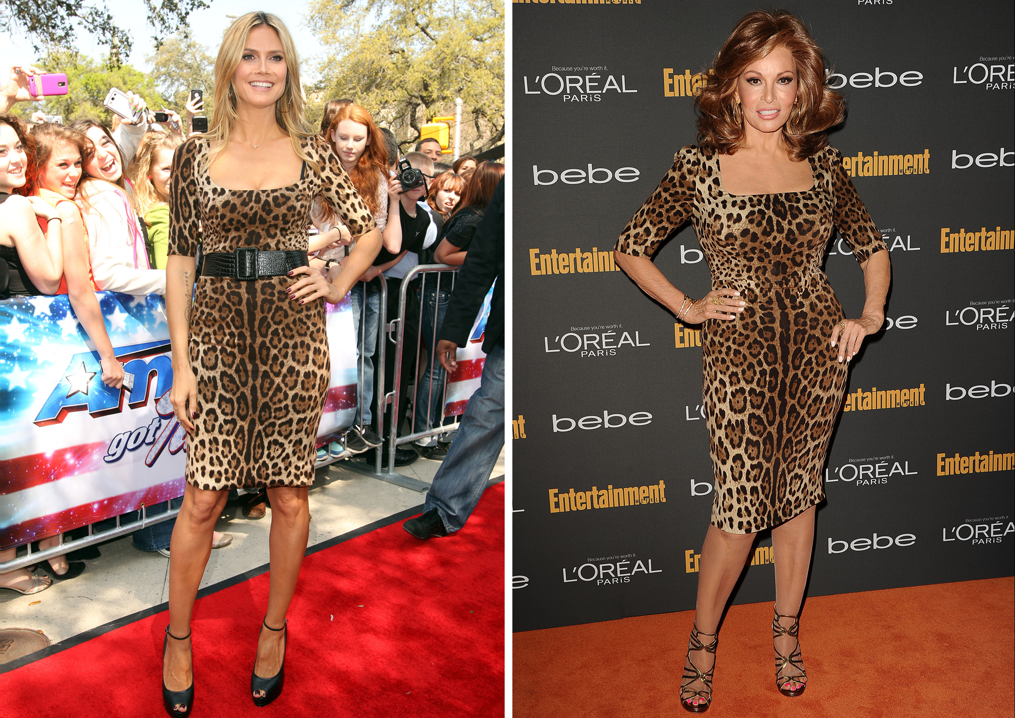 Heidi Klum vs. Raquel Welch (Splash News/FilmMagic)