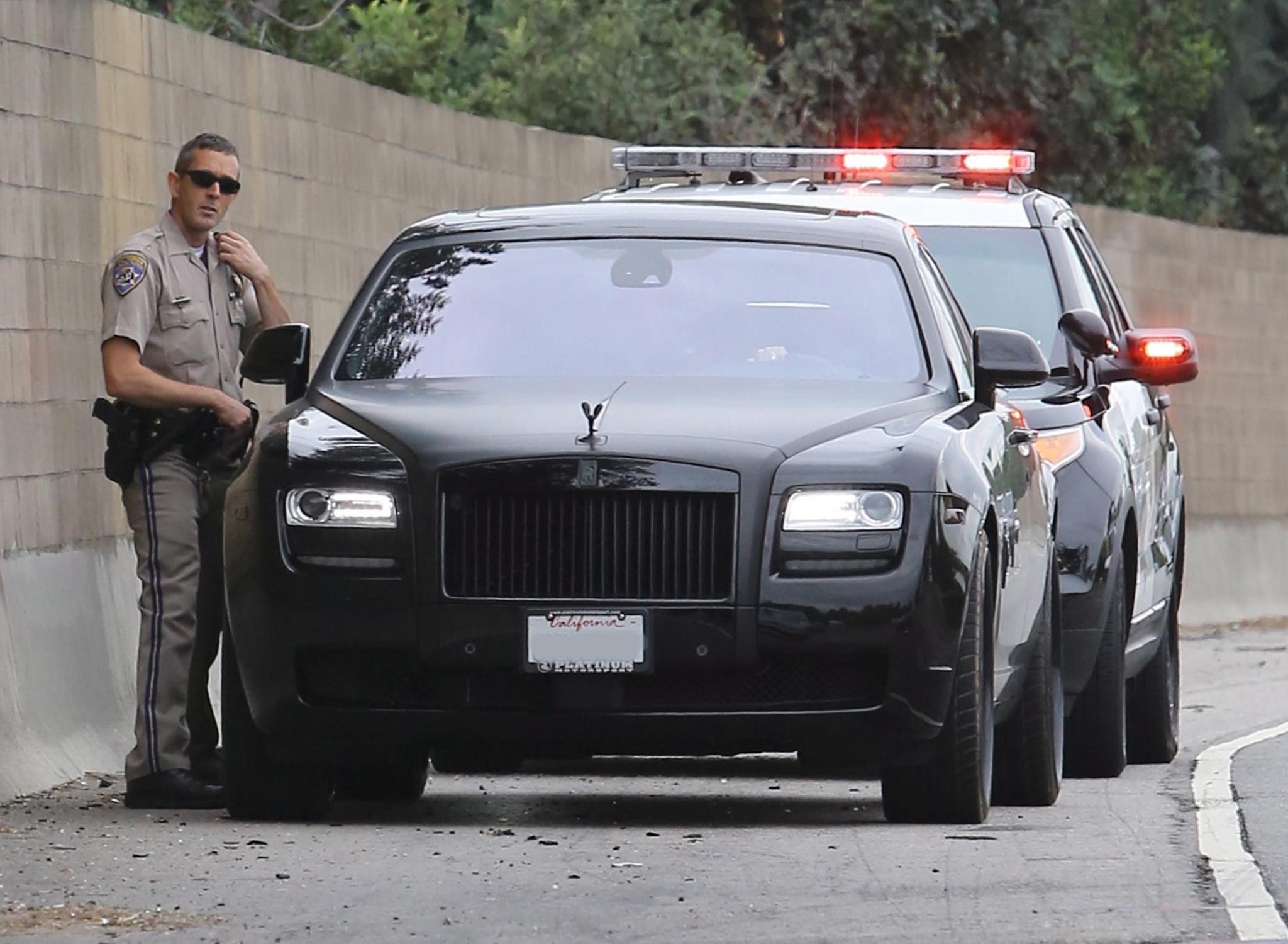 Kim Kardashian is pulled over for speeding. (X17online.com)