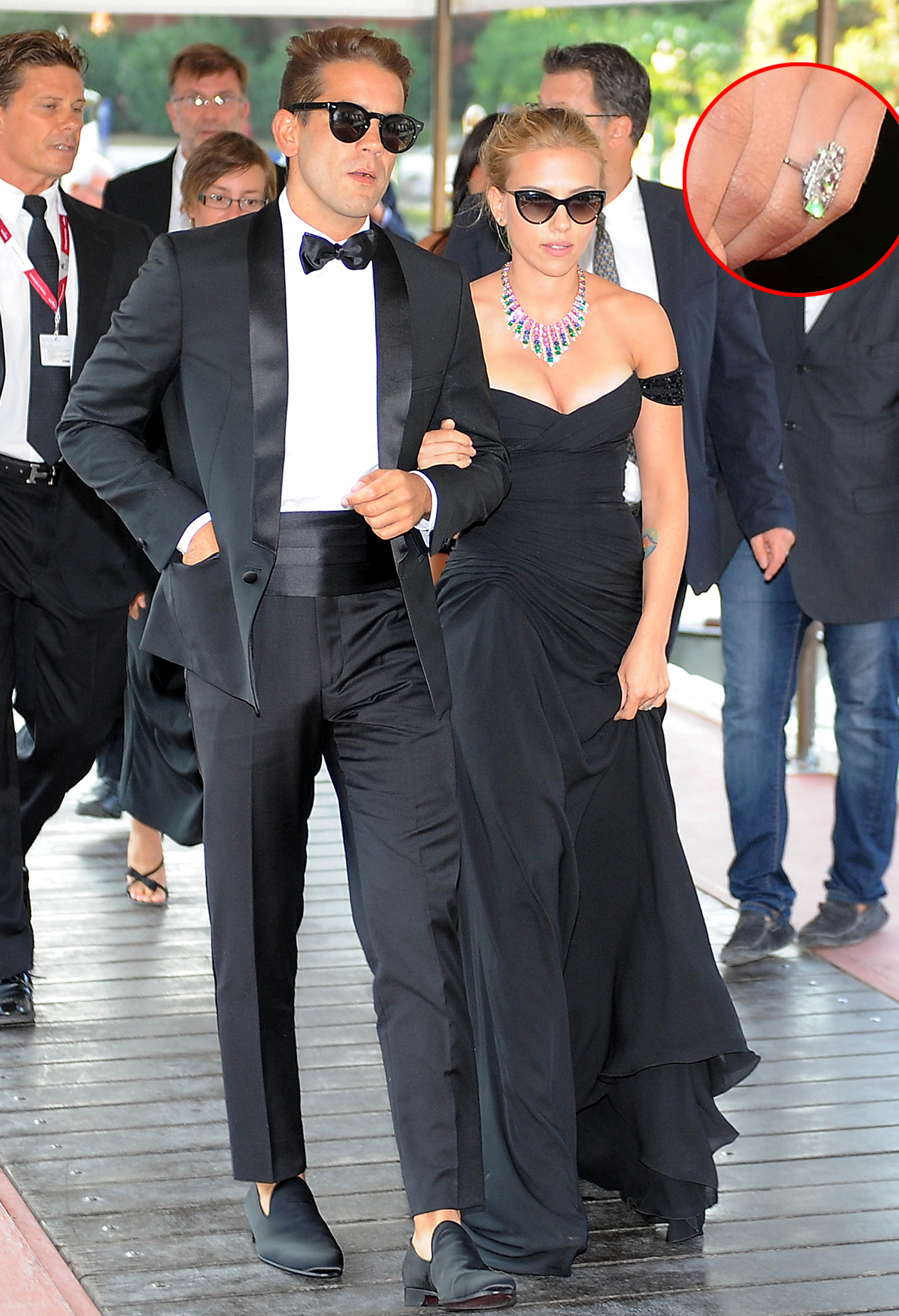 Scarlett Johansson and Romain Dauriac at the Venice Film Festival on 9/3/13 (INFphoto.com/WireImage)