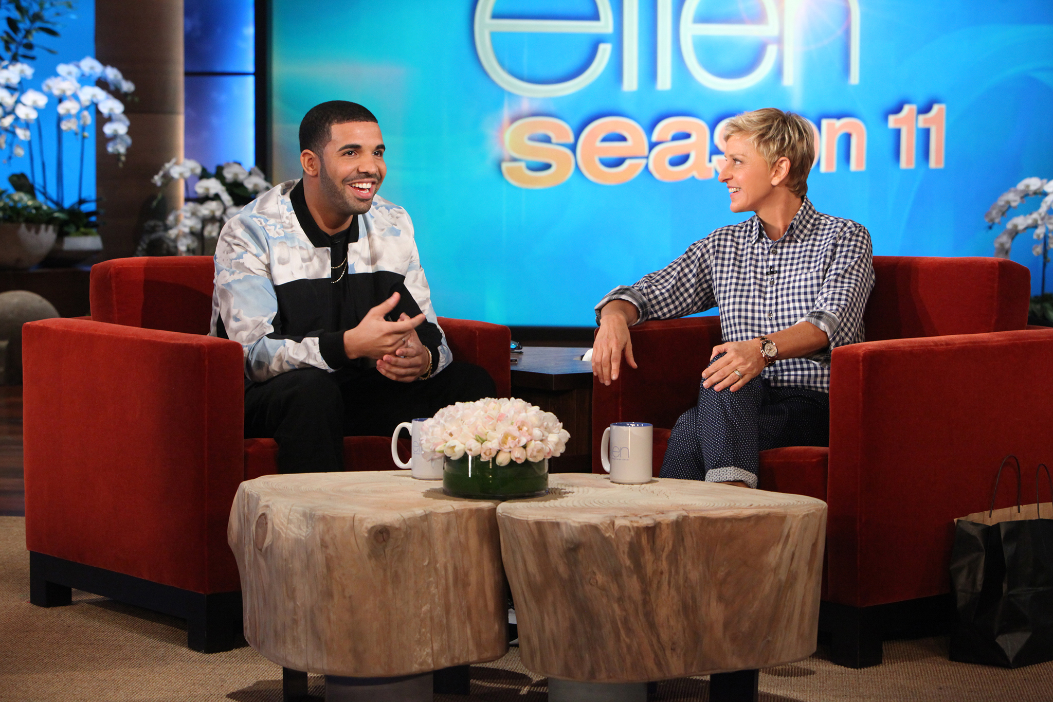 Drake dished about his love life on 'The Ellen DeGeneres Show.' (Michael Rozman/Warner Bros.)