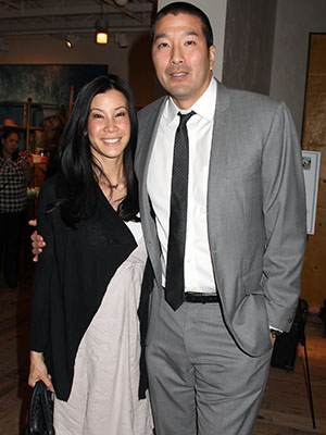 Lisa Ling and her husband, Paul Song. (Getty)