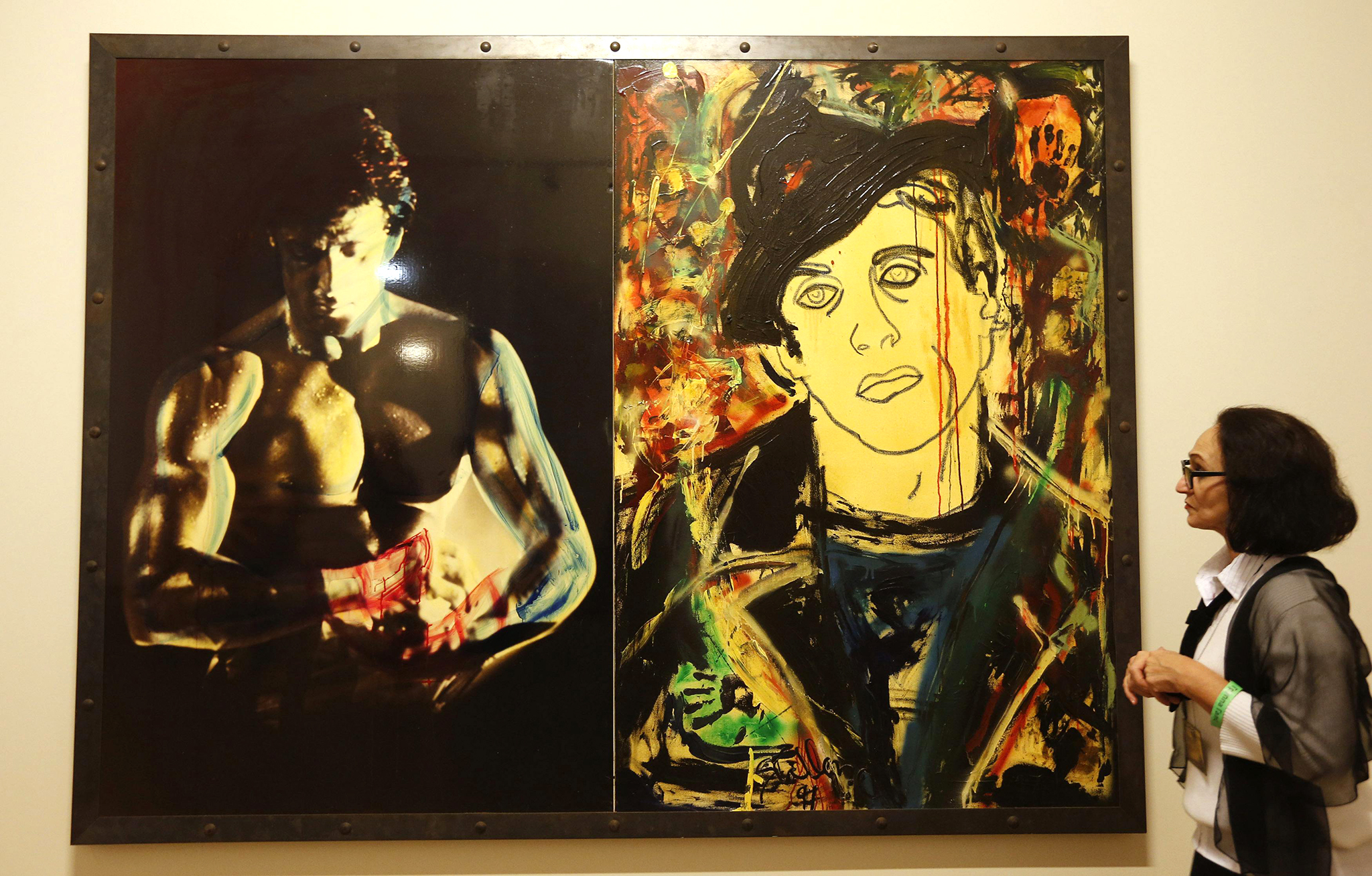Sylvester Stallone's artwork on display in St. Petersburg. (Reuters)