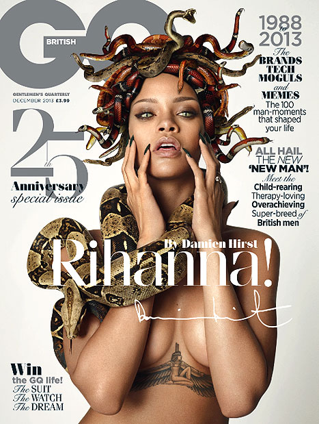 Rihanna as Medusa (British GQ)