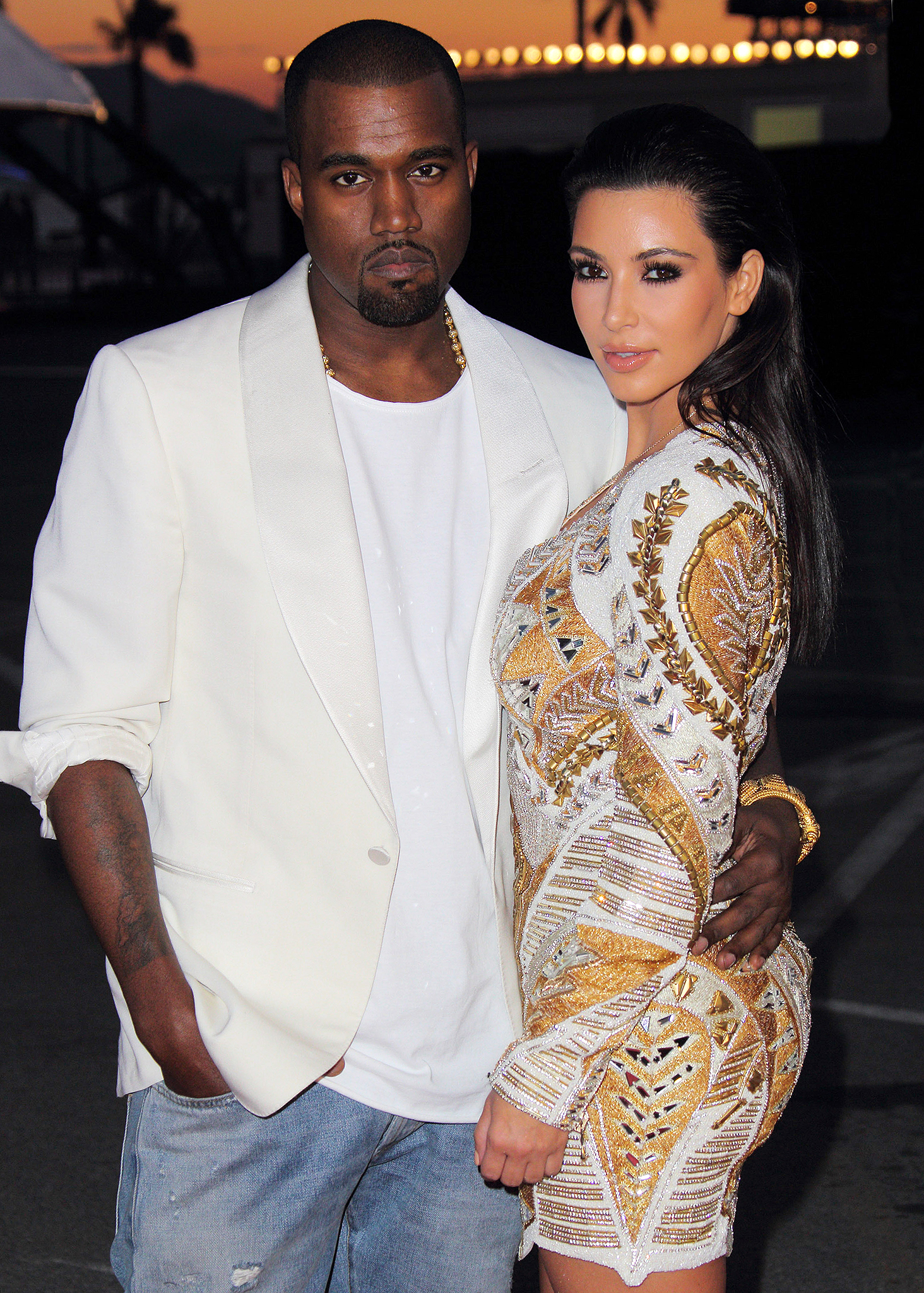Kim Kardashian and Kanye West (WireImage)