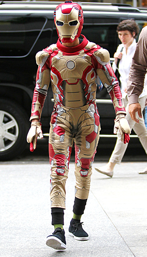Jaden Smith suits up as 'Iron Man' (Splash News)