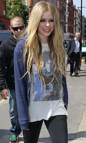 Lavigne the next day (Getty Images)