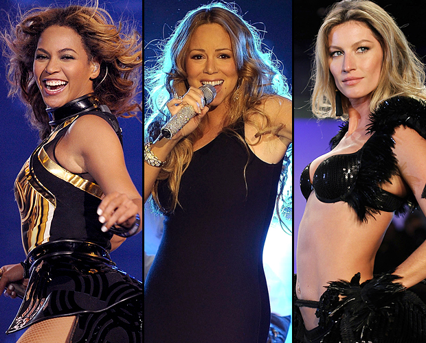 Beyoncé, Mariah Carey, and Gisele Bündchen (AP Photo/Getty Images)
