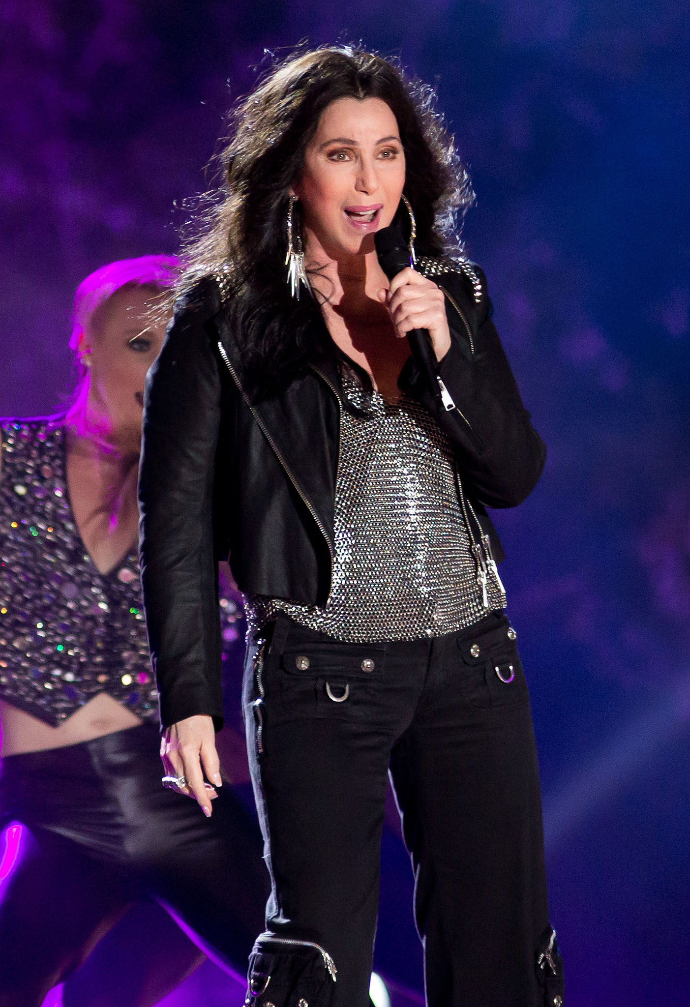 Cher takes the stage. (Splash News)